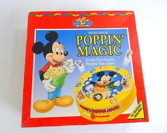 Vintage Mickey Mouse Poppin Magic Children's Game Complete  Mickey's Stuff For Kids Pop the Dice Game Vintage Childrens Game