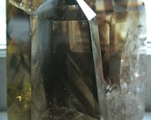 One BACKORDERED Smoky Citrine Polished Tower // Phantom Crystal // Wicca Crystals // Healing Crystals and Stones // Mineral Decor // Zen