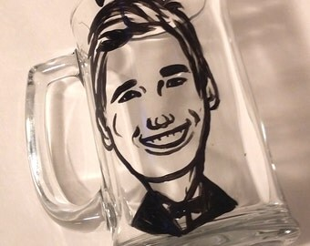 Caricature glasses, Wedding caricature, Groomsmen Gift, Wedding gift, groomsmen gift ideas, Wedding Glass, Caricature mug