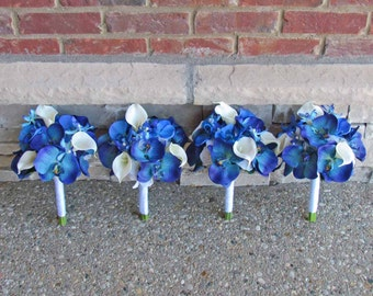Small Blue Orchid & Calla Lily Bouquet for your Bridemaids Example Only!! DO NOT PURCHASE