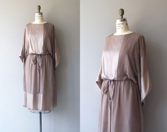 Light & Magic dress | vintage kimono sleeve dress | silk tunic dress