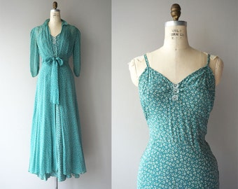 Riddle Me This dress | vintage 1930s dress | silk 30s dress and jacket