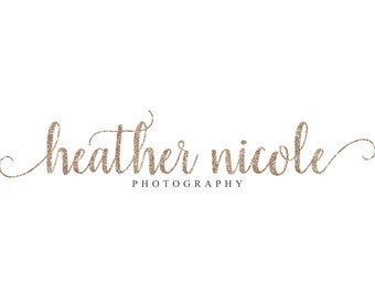 Gold Logo Glitter Logo Calligraphy Logo Photography Logo Photography Watermark Lash Logo Boutique Branding Premade Logo Design Makeup Artist