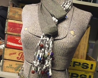 Jersey Scarf - Taupe/Shimmer/Cream
