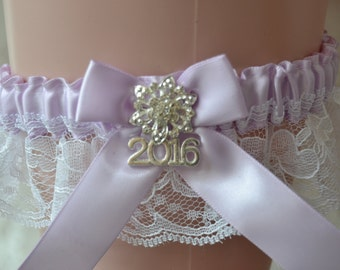Prom Garter- Lavender With White Lace Prom Garter Belt-Prom Garters-Prom Accessories