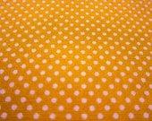 SALE Japanese Cotton Fabric - Bright Orange Tiny Dots - Fat Quarter