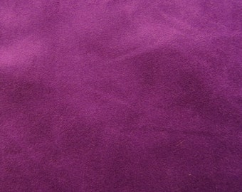 Purple Faux Suede Fabric / Microsuede / Suedette - Large Fat Quarter - Vegan Suede