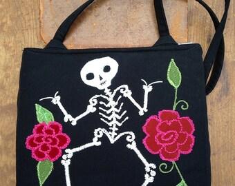 dancing skeleton bag