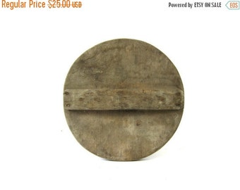 Vintage Wooden Barrel Lid Primitive Wood Antique Shabby Chic Furniture woodwork Farmhouse Home Decor