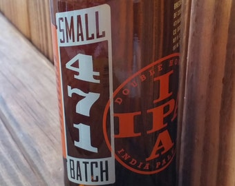 YAVA Glass - Recycled Breckenridge 471 Small Batch IPA Beer Bottle Glass