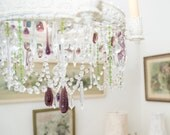 "Set of 3 Vintage Chandelier Prisms * As seen in ""Romantic Homes"" * Crystal Czech Tubes * Clear"