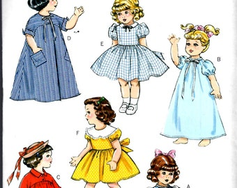 DOLL CLOTHES PATTERN / Make Forties - Fifites Vintage Style Clothes / American Girl Doll - 18 Inch Dolls - Shirley Temple