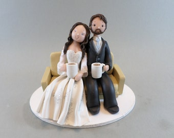 Wedding Cake Topper - Couple on The Love Seat