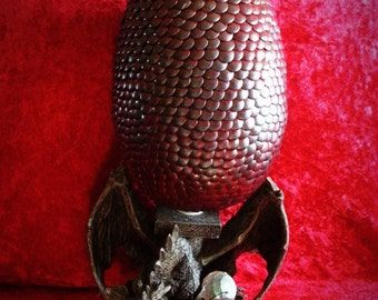Large Dragon Egg Red and Black Lava Game of Thrones inspired Mother Of Dragons