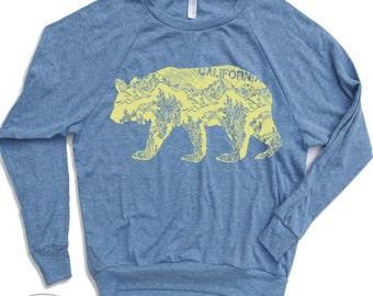 Womens California BEAR Tri-Blend Pullover - american apparel S M L (+ Color Options)