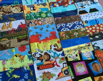 100 5 inch squares quilt kit - Great for I Spy or rag quilt BOY and gender neutral (LOT B)
