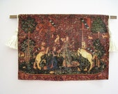 Dollhouse tapestry, Tudor tapestry, Lady and Unicorn, Medieval  Tapestry hanging, twelfth scale, dollhouse miniature