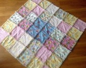 Large  Rag quilt/blanket, girl rag blanket, baby shower gift, raggy quilt with jungle animals prints