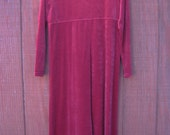 Morgana - vintage 1990s velvet dress M L
