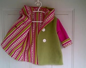 Child's Pink and Green Car Coat 12 months C46/15