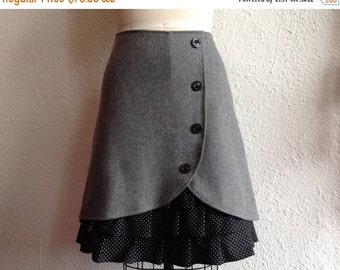 SALE Sadie wool ruffle front skirt Sz 14