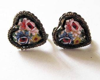 Vintage Micro Mosiac Earrings