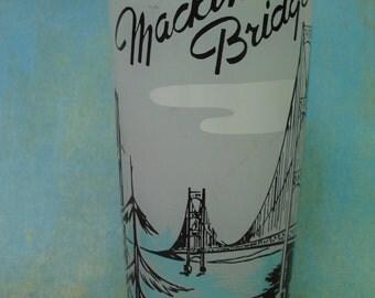 1950'-1960's MACKINAC Bridge Glass Souvenir Collectible