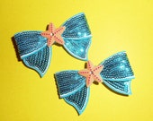 Sally Starfish Bow Barrettes