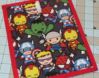 New handmade baby Marvel super hero's chalkboard placemat