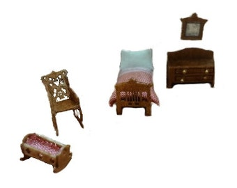 Clearance - 144th Inch Scale Colonial Childs Room Furniture Kit