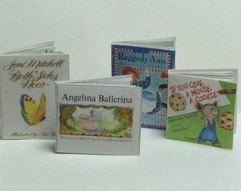Miscellaneous One Inch Scale Children's Books Set of 4 books (BK-M4)