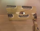 Necessary Clutch Wallet-Japanese Print Typewriters Wallet-Smartphone Wallet-Accordian Style Clutch Wallet-Multi-Purpose Wallet