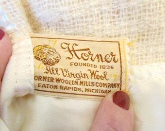Vintage Horner Virgin Wool Blanket Winter White Like New Wool Blanket d Camp Blanket Throw
