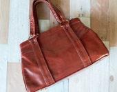 Vintage Brick Red Handbag