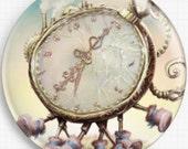 Needle Minder, Licensed Art, 'Watch', Omri Koresh,  Cross Stitch Keeper, Fridge Magnet, Magnet Alice in Wonderland, Scissor Minder