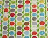 COUPON CODE SALE - Moda, Mod Century, Leaf Green, Jenn Ski, 100% Cotton Quilt Fabric, Multicolor, Polka Dot, Quilting Fabric