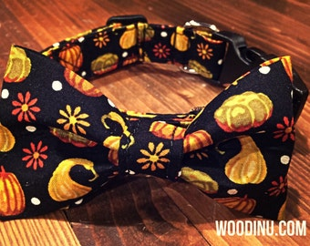Fall Dog Bowtie Set - Fall Dog Bow Tie and Collar Set - Fall Dog Collar Bow Tie Set - Cat Collar Bowtie Set - Collar Bow - Fall Dog Bowtie