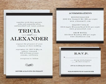 printable wedding invitation kit wedding invitation, Wedding invitations