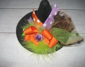 Boutique mini witch hat with headband