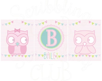 Girls Personalized Name Print Set Bailey