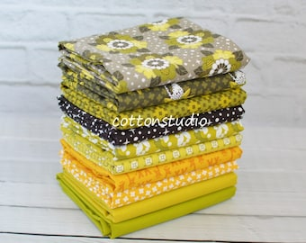 Rhoda Ruth Fabric Nature Fat Quarter Bundle Set Elizabeth Hartman Robert Kaufman Earth Story