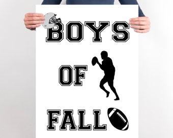 Football Sign, Boys Of Fall, Football Art, Sports Signs, INSTANT DOWNLOAD, YOU Print, Boys Sports Art, Boys Bedroom Decor, Boys Playroom Art