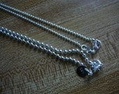 Sterling Silver Ball Chains - Your Choice of Two Sizes