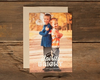 Custom Holiday Photo Cards - Personalized Christmas Card - Making Spirits Bright