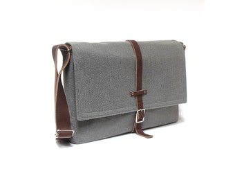 Ultimate Stash laptop messenger bag - medium gray