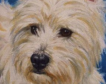 CUSTOM Pet Portrait Miniature Painting in OIL by Lara ACEO 3x4 Mini Tiny Dog Art