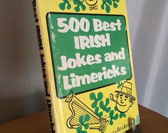 Irish Joke Book Vintage Jokes Green Hardcover