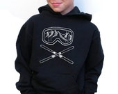 Boys Hoody - Skiing Design - Available in S, M, L, XL - 5yo, 6yo, 7yo, 8yo, 9yo, 10, yo, 11yo, 12yo