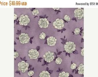 ON SALE Purple Lavender Floral Fabric - Robert Kaufman - Pen & Ink