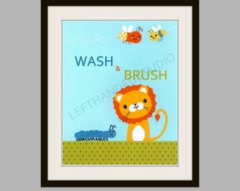 Target Circo ABC Print, LION Art Print, Children's Art Print, 8x10, Personalized